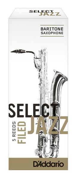 D'ADDARIO Select Jazz-Blätter filed Bariton 3Hard