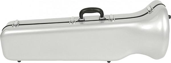 WICONA-Koffer Bassposaune Glasfaser 178, silber