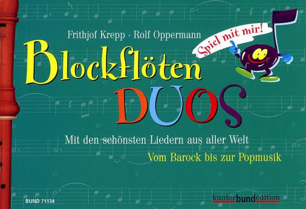 Friedr.Krepp: Blockfl-Duos -Spiel mit mir- Bd.3