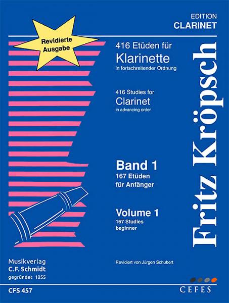 Kröpsch,Fritz: 416 Etuden für Klarinette Bd. I