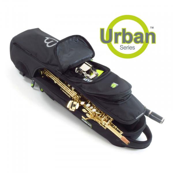 FUSION-Gigbag Sopransaxophon/Klarinette/Querflöte Urban Range, black