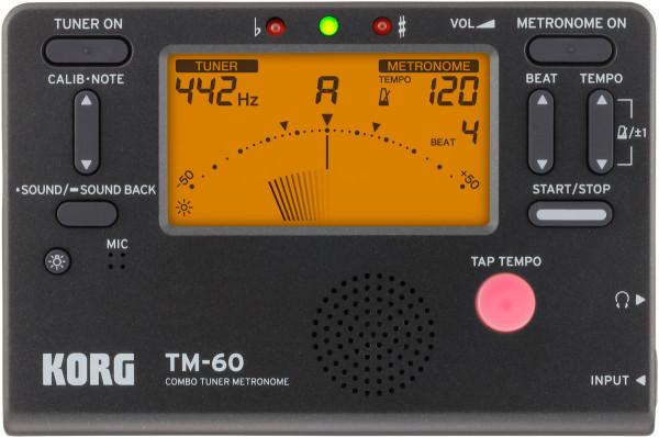 KORG-Combo Tuner Metronom TM 60 black