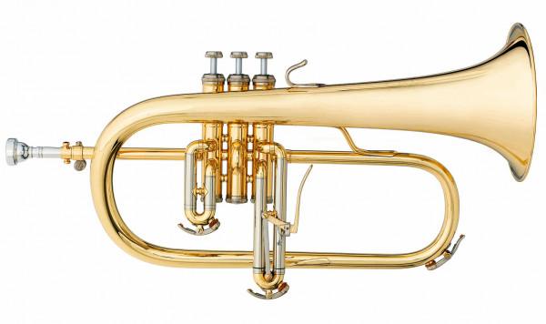 CHALLENGER-Flügelhorn 3145 Goldmessing