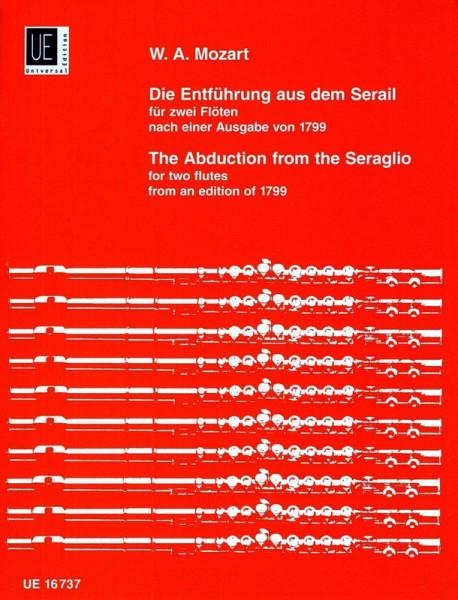 """Mozart (Braun): \""""Entf. aus d. Serail\"""" 2 Flöten"""