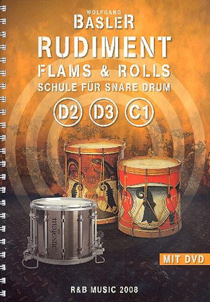 BASLER-Trommelschule Rudiment D2, D3, C1 mit DVD