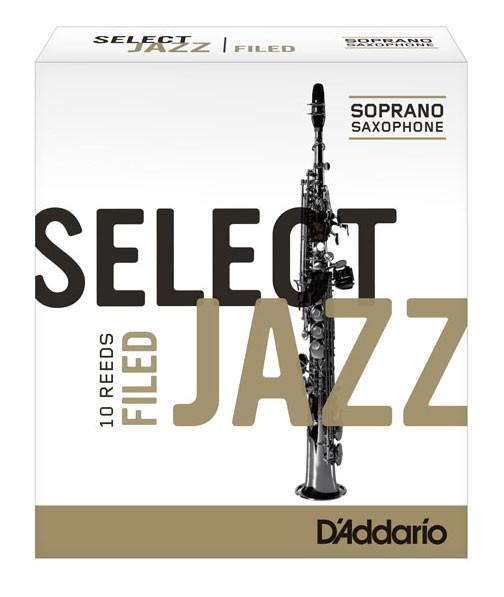 D'ADDARIO Select Jazz-Blätter filed Sopr 3Hard