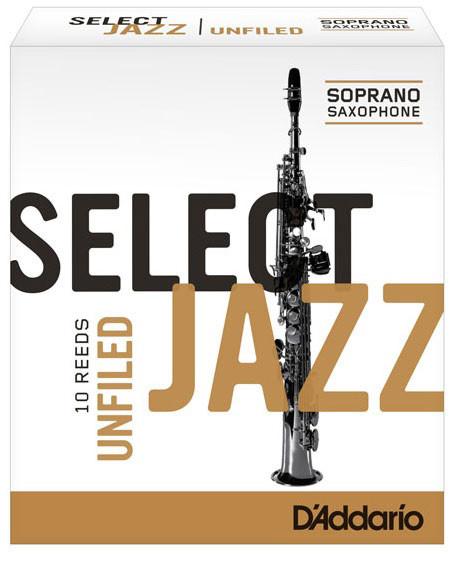 D'ADDARIO Select Jazz-Blätter unfiled Sopr 3Hard