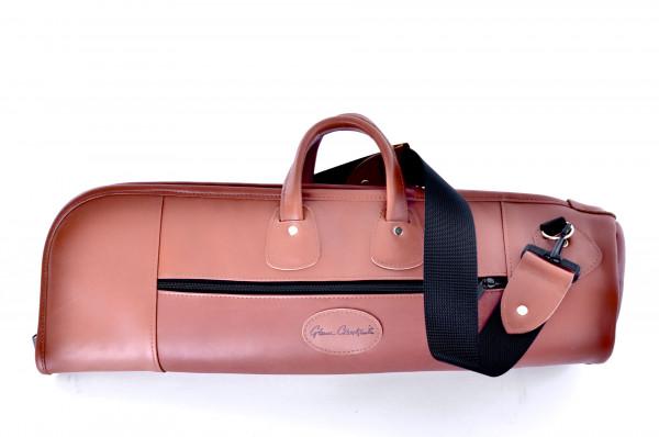 GLENN CRONKHITE Doppel Bag DBL, Leder braun